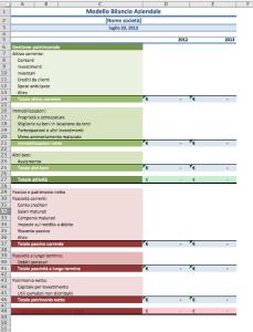 Bilancio con Excel