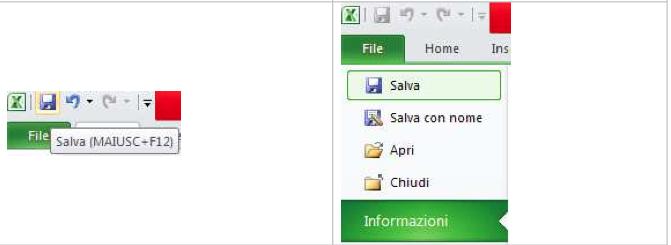 Salva con Excel