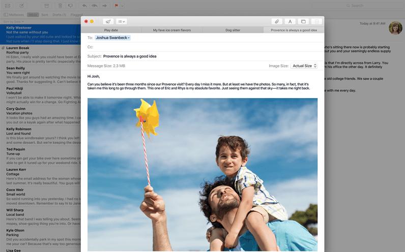 Mail OSX El Capitan