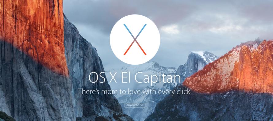 Novità MAC OSX El Capitan