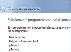modalità compatibilità programmi
