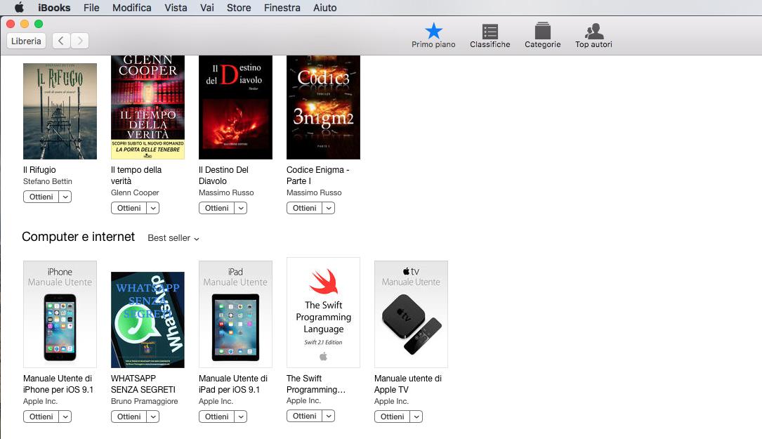 Best Seller in Ibooks Store